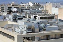 Acondicionadores de aire del tejado Imagenes de archivo