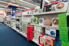 Acondicionadores de aire para la venta en una tienda al por menor Fotografía de archivo