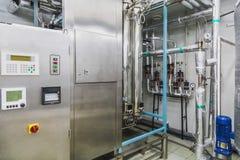 Acondicionamento da água ou sala da destilação Foto de Stock Royalty Free