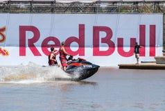 Acontecimiento de Red Bull Flugtag en el parque de Yarkon foto de archivo