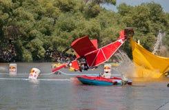 Acontecimiento de Red Bull Flugtag en el parque de Yarkon imagen de archivo libre de regalías