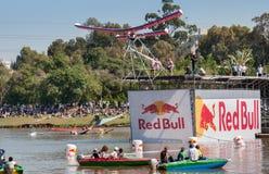 Acontecimiento de Red Bull Flugtag en el parque de Yarkon imágenes de archivo libres de regalías