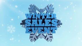 Acontecimiento de ventas del invierno - comercialización promocional y publicidad - estacional libre illustration