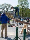 Acontecimiento del curso de obstáculo en la competición de Woodmans Foto de archivo libre de regalías