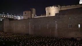 Acontecimiento especial m?s all? de la sombra de profundizaci?n en la torre de Londres almacen de metraje de vídeo