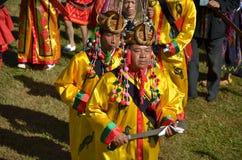 Acontecimiento tradicional de Manau de la tribu de Kachin para adorar a dios Fotografía de archivo libre de regalías