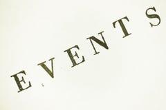 acontecimientos Fotografía de archivo libre de regalías