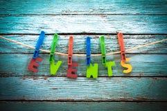 acontecimientos Foto de archivo