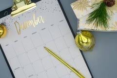 Acontecimientos de planificación para diciembre fotografía de archivo libre de regalías
