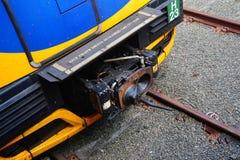 Acoplador del tren eléctrico Imagen de archivo