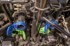 Acoplamentos hidráulicos do trator Fotos de Stock