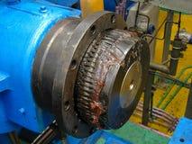 Acoplamiento de eje del motor, industrial Foto de archivo libre de regalías