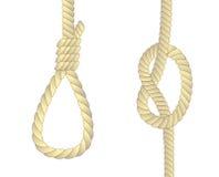 Acoplamiento de la cadena en nudos stock de ilustración