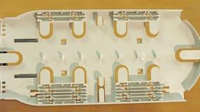 Acoplamiento para los cables de la comunicación óptica Imágenes de archivo libres de regalías