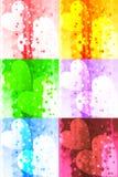 Acople dos corações no fundo gerado por computador colorido com efeito da luz, imagem e projeto do papel de parede ilustração do vetor
