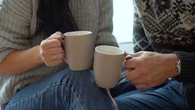 Acople guardar copos de chá video estoque