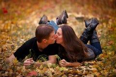 Acople o beijo Foto de Stock
