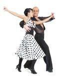 Acople o estilo de latina dos dançarinos Imagens de Stock