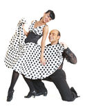 Acople o estilo de latina dos dançarinos foto de stock royalty free