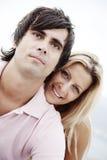 Acople o sorriso na câmera Imagens de Stock