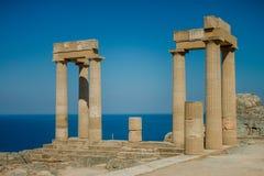 Acopolis di Lindos Fotografia Stock