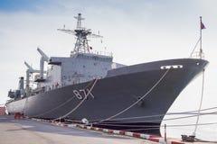 Acorazado de la marina de guerra imagen de archivo libre de regalías