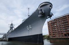Acorazado de USS Wisconsin imagenes de archivo