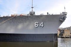 Acorazado de USS Wisconsin, Norfolk imagen de archivo libre de regalías