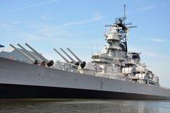 Acorazado de USS Wisconsin, Norfolk fotos de archivo libres de regalías
