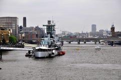 Acorazado del HMS Belfast Fotos de archivo