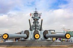 Acorazado del museo de USS Iowa Foto de archivo libre de regalías