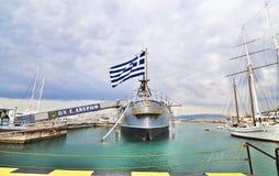 Acorazado histórico Faliro Grecia de George/de Jorge Averof Fotos de archivo