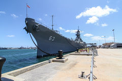 Acorazado Missouri de USS del Pearl Harbor Imagen de archivo libre de regalías