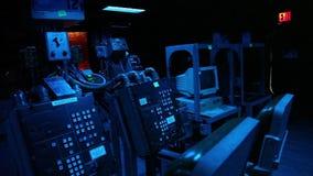 Acorazado oscuro del sitio de guerra almacen de video