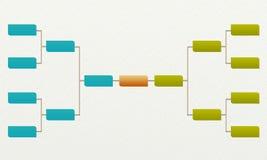 Acorchete el torneo 8, partidos y las competencias se divierten Fotos de archivo libres de regalías