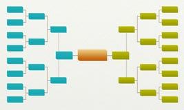 Acorchete el torneo 16, partidos y las competencias se divierten Imagen de archivo