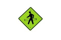 Acordando o sinal do homem com aro de Hula Fotografia de Stock Royalty Free