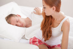 Acordar de um sono profundo Fotos de Stock Royalty Free