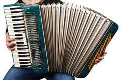 Acordeão do instrumento de música Imagens de Stock Royalty Free