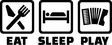 Acordeón Eat Sleep Play Fotos de archivo libres de regalías