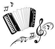 Acordeón, música Fotografía de archivo
