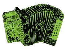 Acordeón retro del Grunge Imágenes de archivo libres de regalías