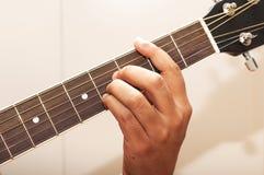 Acorde B de la guitarra Foto de archivo libre de regalías