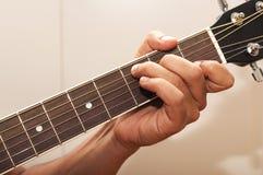 Acorde C de la guitarra Fotografía de archivo