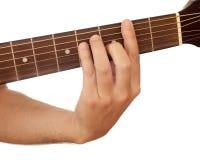 Acorde de la guitarra imagenes de archivo