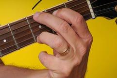 Acorde importante de la guitarra de G Foto de archivo