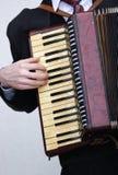Acordión de piano Fotos de archivo