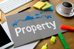 Acordo de compra residencial do empréstimo da propriedade à propriedade viva Mo Imagem de Stock