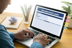 Acordo de compra residencial do empréstimo a lo vivo da hipoteca da propriedade Imagem de Stock