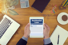 Acordo de compra residencial do empréstimo a lo vivo da hipoteca da propriedade Foto de Stock Royalty Free